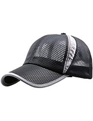 Beileer Outdoor-Sport-Baseball-Mütze Lauf Visor Schnell trocknend Cap Unisex(schwarz)