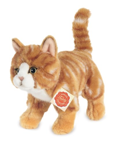 tion 906827 - Plüsch-Katze stehend, 20 cm, rot getigert ()