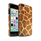 eSwish Coque Brillant Robuste Antichoc de Coque pour Apple iPhone 4/4S / Modèle Fourrure Girafe Design/Motif Imprimé Animal Mode Collection