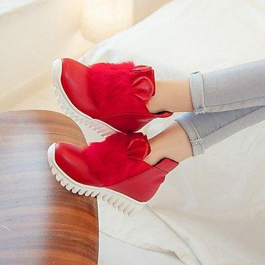Confortevole ed elegante piatto scarpe donna Appartamenti Primavera Estate Autunno Inverno altre similpelle Office & Carriera Party & abito da sera tacco piatto nero rosso bianco White