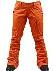 Burton Snowboardhose Indulgence - Pantalones de esquí para mujer, color naranja, talla M