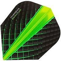 HARROWS Quantum Dart Flights 3D Effekt–100Mikron–Standard Form–grün–5sets (15)