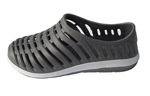 LOBTY Erwachsen Clogs Herren Pantoffeln Sandalen Schuhe Flats herren Flip flops Gr.39-44 Grau