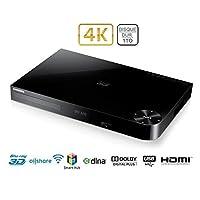 Samsung BD-H8900 - Grabador de Blu-ray (3D, internet, conexión HDMI, DVB-T, disco duro de 1 TB), negro