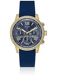 Guess Damen-Armbanduhr Analog Quarz Kautschuk W0616L2