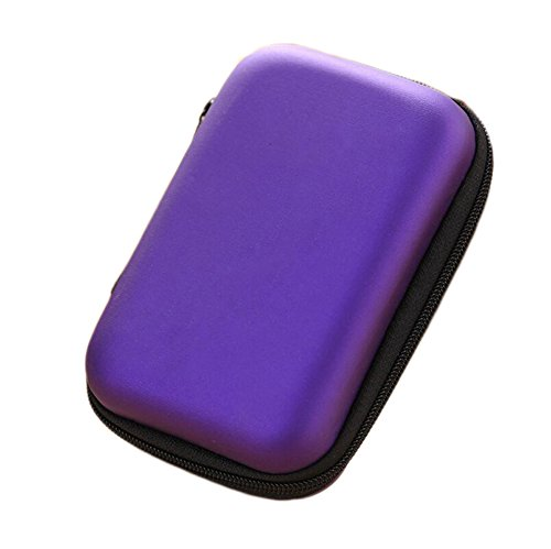 Ipod Nano In-ear-headset (Dosige Kopfhörer Tasche Earphone Case Aufbewahrungstasche für Headset/In Ear Ohrhörer/ MP3 Player/iPod/Nano/Schlüssel Lila)