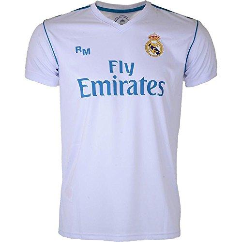 Real Madrid Replica hogar–Camiseta de fútbol para hombre, Hombre, Replica domicile, blanco/azul, XL