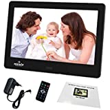 "Miracle Digital 7-inch Digital Photo Frame with LCD Panel Screen, Supports SD,USB-Disk Card / 7"" Digital Photo Frame with Functional Remote Plays Photos Slide Show, Video, Audio Black in Color."
