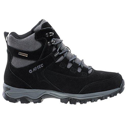 Hi-Tec Haiku Mid WP Herren Outdoor Boots Chaussures de Marche Leder Noir Chaussures Homme Baskets Top