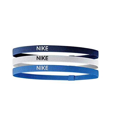 Nike Unisex-Adult Elastic Haarbänder, Blue Void/White/lt Photo Blue