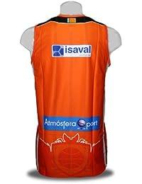 Camiseta del Valencia Basket de la Liga Endesa. 1ª Equipación. Color naranja (XL)