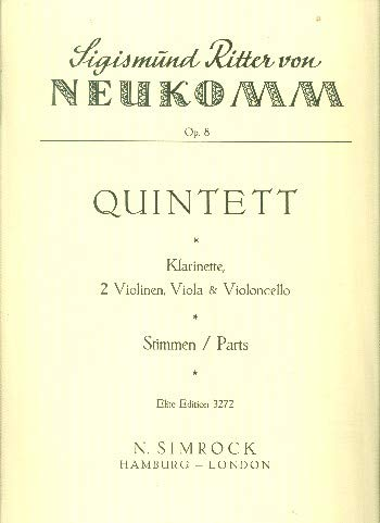 Quintett: op. 8. Klarinette und Streichquartett. Stimmensatz.