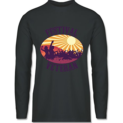 Festival - Festival Veteran Badge - Longsleeve / langärmeliges T-Shirt für Herren Anthrazit