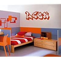 Wall Art Desire® GRAFFITI PERSONALISED NAME & COLOUR BEDROOM WALL ART VINYL DECAL STICKER 14 COLOURS AVAILABLE***PLEASE MESSAGE US WITH NAME & COLOUR***