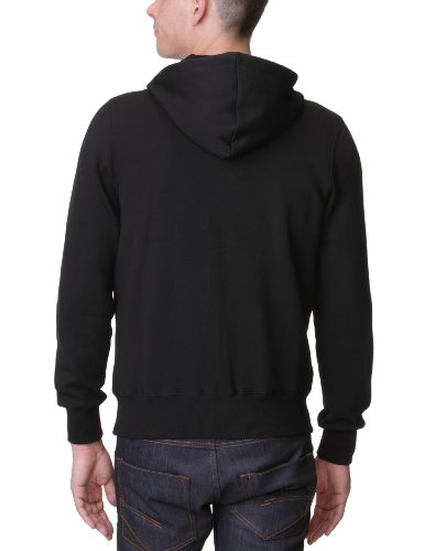 Lonsdale Herren Sweatshirt Sweatshirt Slim Fit Hooded Zip Krafty Schwarz