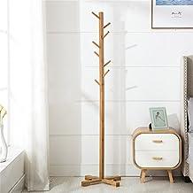 Perchero Simple bambú vertical colgante de suspensión, suelo dormitorio de la casa simple ropa estantes percha,Gancho de ropa ( Color : A )