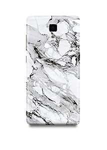 Xiaomi Mi4 Cover,Xiaomi Mi4 Case,Xiaomi Mi4 Back Cover,White & Black Marble Xiaomi Mi4 Mobile Cover By The Shopmetro-31987