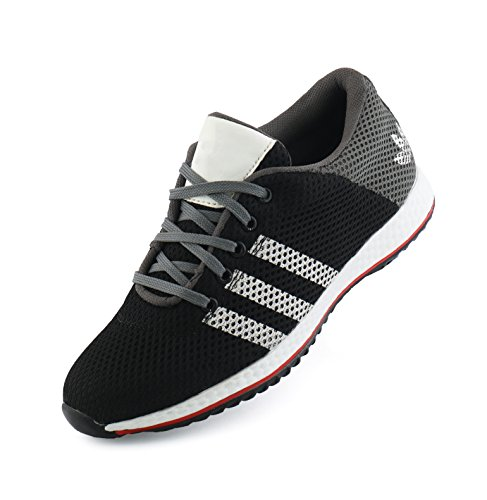 FLAVIO-Unisex-Black-Men-and-Women-Casual-Sport-Running-Shoes-and-Leather-Look-Sneaker-Shoe-Shoes-CX47