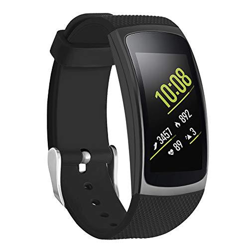 Isabake Cinturino per Samsung Gear Fit 2 Band/Gear Fit 2 PRO, Silicone Calzata Rapida Cinturini Accessori Compatibile con Samsung...