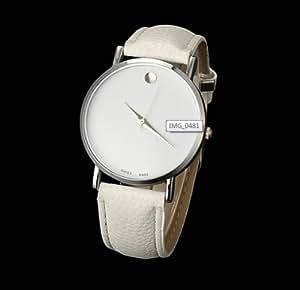 New Fashion Women leisure Dress Sport Watches Geneva men Leather Watches Silver white