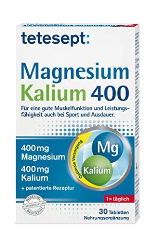 tetesept Magnesium Kalium 400 - Nahrungsergänzungsmittel mit Magnesium für Muskeln, Herz & Nervensystem - 5 x 30 Tabletten