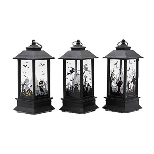 junkai Halloween Lichter, kreative Öllampe Simulation Candle Light Kürbis, Schloss, Halloween Party Festival Dekoration Lichter