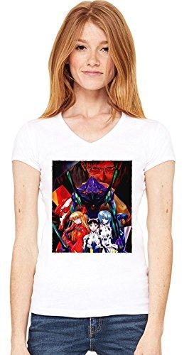 Neon Genesis Evangelion T-shirt col V de la femme Small