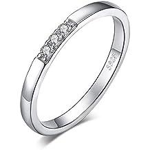 JewelryPalace 3 Pierre Bague de Mariage en Zircon Cubique en Argent  Sterling 925 ensemble de Mariée 428f3f3f3363