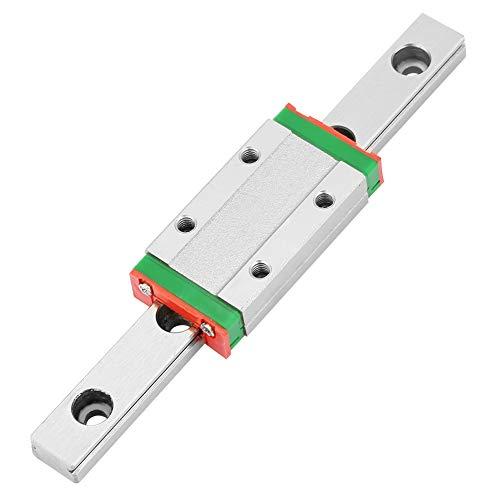 Miniatur Linearschiene Führungsschiene, MGN9H 100mm Mini Linear Rail Guide, 9mm Breite Linear Schiebetür Gide mit ein Erweiterungs Schiebeblock,Anti Rost und Hohe Präzision (9mm-erweiterung)