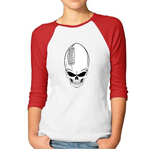 Vgd Playera de béisbol para Mujer con diseño de Calavera de...
