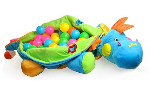 Ball Dinosaurier - Kuschliges Dino Kissen + 60 Bälle