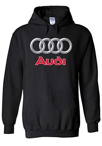 Audi Logo S Line R8 German Car Cool Novelty Black Men Women Unisex Hooded Sweatshirt Hoodie-M -