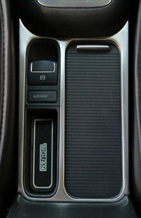 Preisvergleich Produktbild ZUBEHÖR - VW TIGUAN 2010-2014 CHROM MATT METAL BLENDE Innenraum TUNING CHROMBLENDE