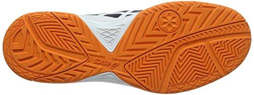Asics Gel-Dedicate 5, Scarpe da Ginnastica Uomo Nero (Black/White/Shocking Orange)