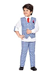AJ Dezines Kids Party Wear Suit Set for Boys (820_WHITE_9)