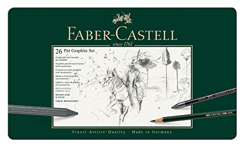faber-castell-112974-pitt-graphite-set-im-metalletui-gross-26-teilig