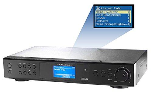 VR-Radio Internet Tuner: Internetradio-Tuner IRS-410.HiFi mit LAN/ WLAN (Internetradios für HiFi Anlagen)