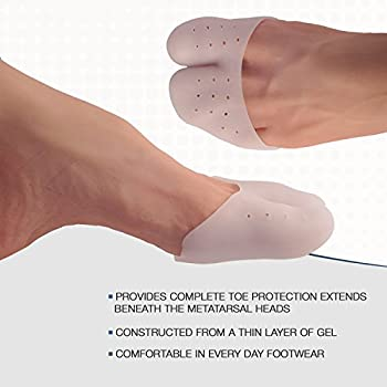 Toe Sleeve Metatarsal Pads, Gel Toe Caps With Forefoot Cushioning, Prevent Calluses & Blisters For Foot Pain Relief(1 Pair) 1