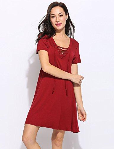 Romanstii - Robe - Trapèze - Femme red