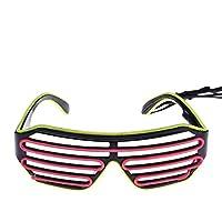 Alokie Gafas de iluminación LED para cumpleaños Decoración de la Barra de la Fiesta de Halloween, 2 Colores LED Luz de Neón Alambre (8)