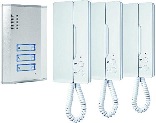 ELRO - Smartwares IB63SW Türsprechanlagen für 3 Wohnparteien