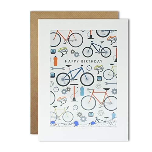 James Ellis PH3056 Rechteckige Shakies Karte mit Radsportmuster -