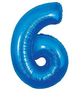 Oaktree UK 603363 Globo gigante número 6, azul, 30 pulgadas