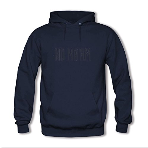 HKdiy NO MA'AM Custom Men's Printed Hoodie Navy-2