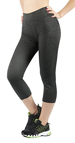 4How Legging damen dunkelgrau marine jogging hosen Capri fitness Yoga Pants, Gr. XS (Womens Spandex Capri Pants)