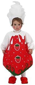 Atosa-10445 Disfraz Fresa, Color Rojo, 0 a 6 Meses (10445)