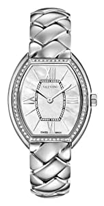 Valentino Liaison Women 's Quartz Watch with Mother of Pearl Dial Analogue Display and Silver Stainless Steel Bracelet V48SBQ9191S099
