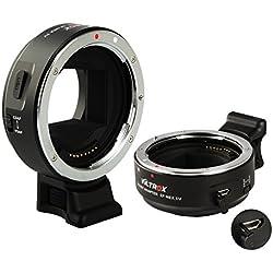 VILTROX EF-NEX IV Bague d'adaptation Objectif Adaptateur convertisseur Auto-Focus pour Canon EF EF-S Objectif à Sony E Mount A6300, A6000 NEX 7/6 A7 A7RII A7SII