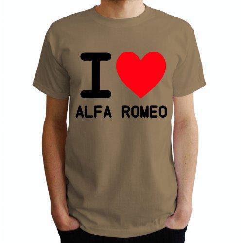 I love Alfa Romeo Herren T-Shirt Beige