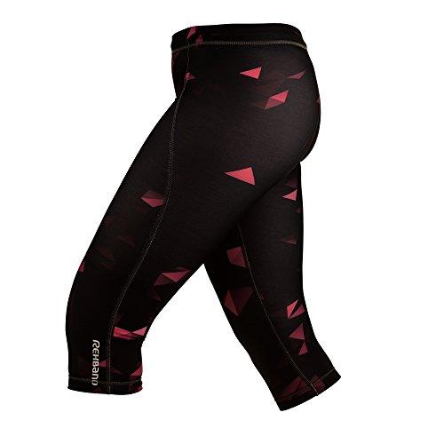 Rehband Femme Vêtements de compression RX RAW Compression, noir/rose Multicolore - Noir/Rose